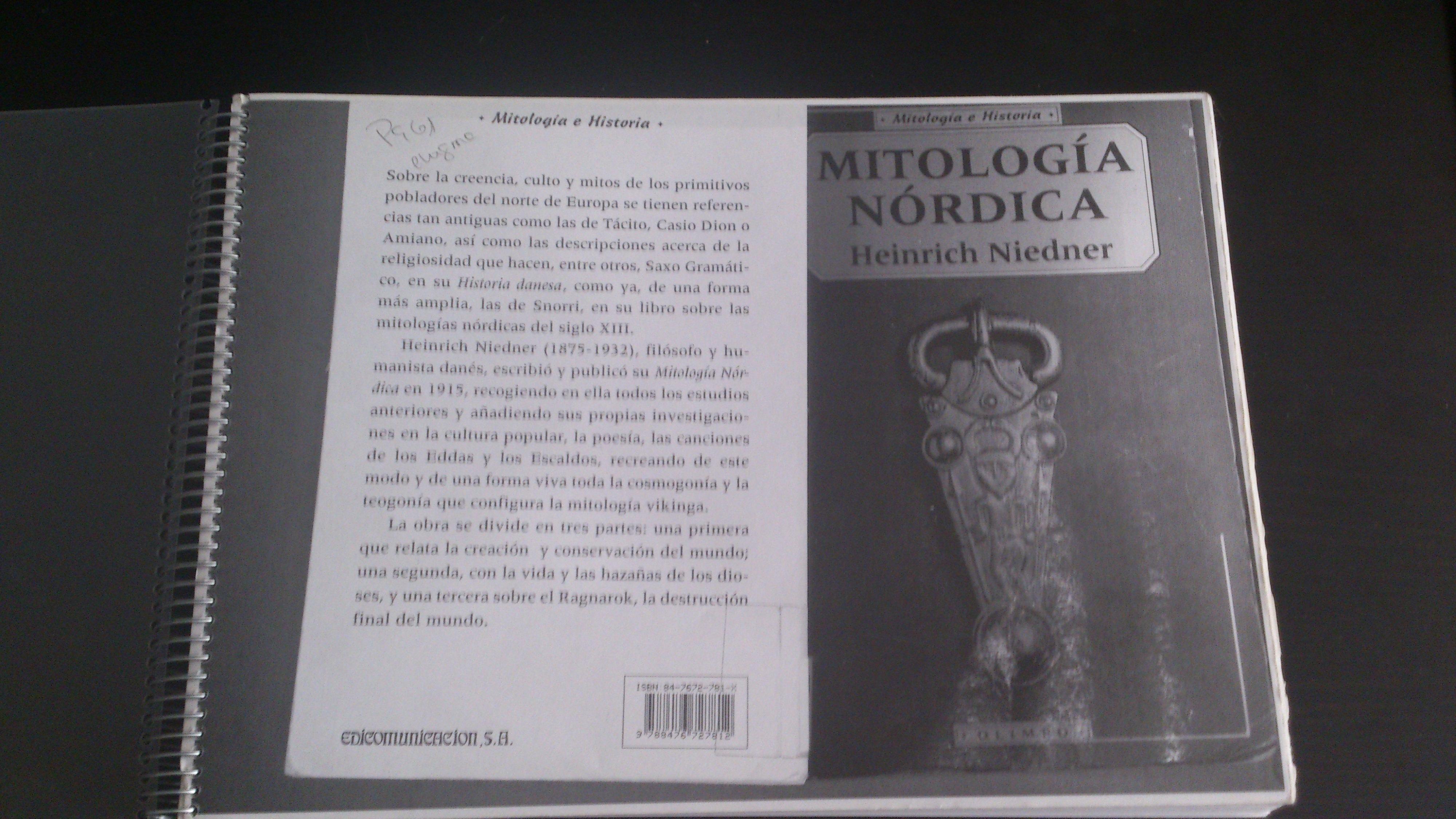 Heinrich Niedner - Mitología Nórdica (1915)