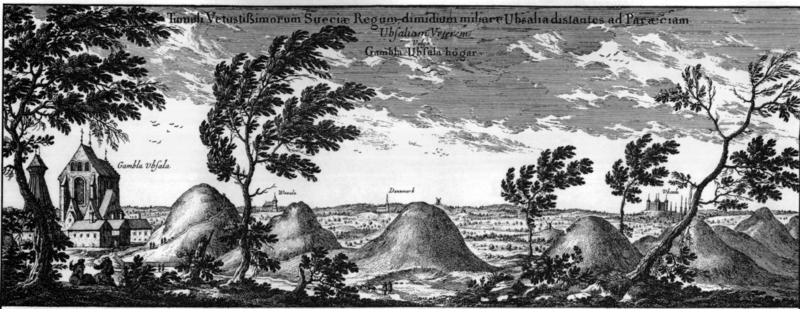 Los tres Túmulos de Uppsala