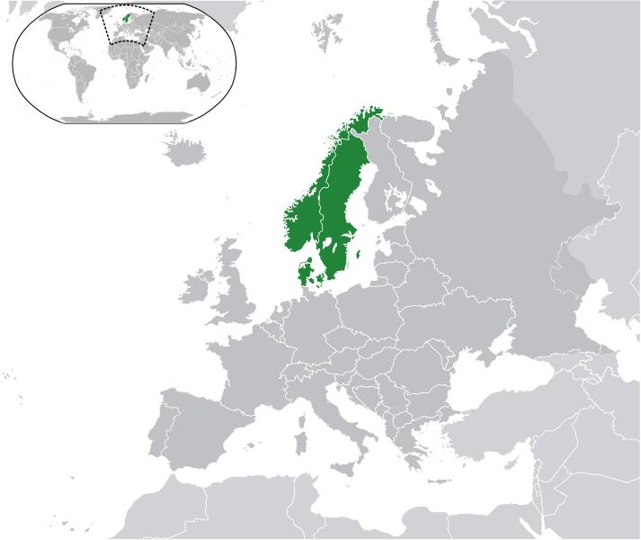 Península Escandinava y Dinamarca.