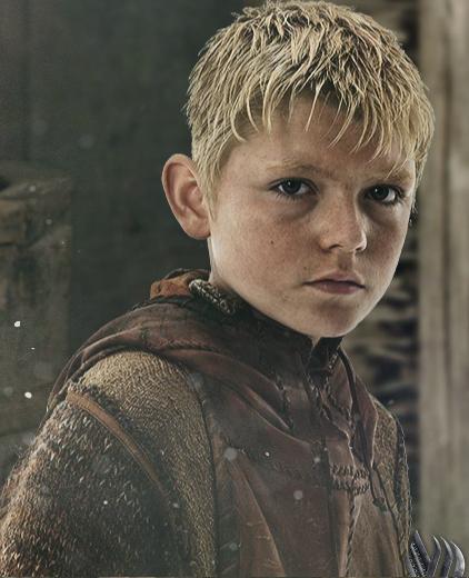 Björn Ragnarsson en la serie Vikings. Interpretado por Nathan O'Toole.
