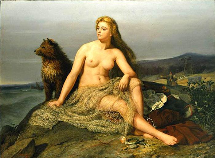 Imagen de Aslaud de Mårten Eskil Winge (1862).