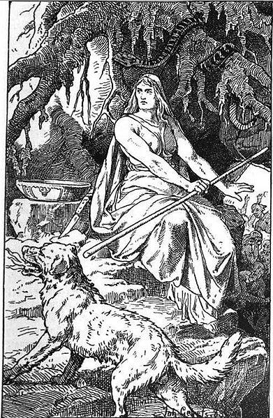Hel (1889) por Johannes Gehrts.