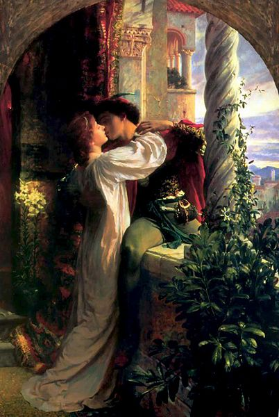 """Romeo and Juliet""  (1884) por  Sir Frank Dicksee."