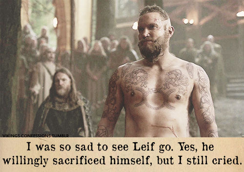 Los tatuajes del personaje de Leif de la serie Vikings.