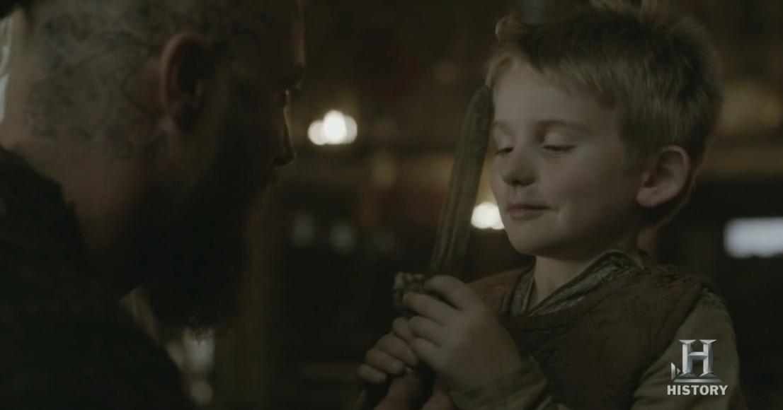 Ragnar y su hijo Ubbe.