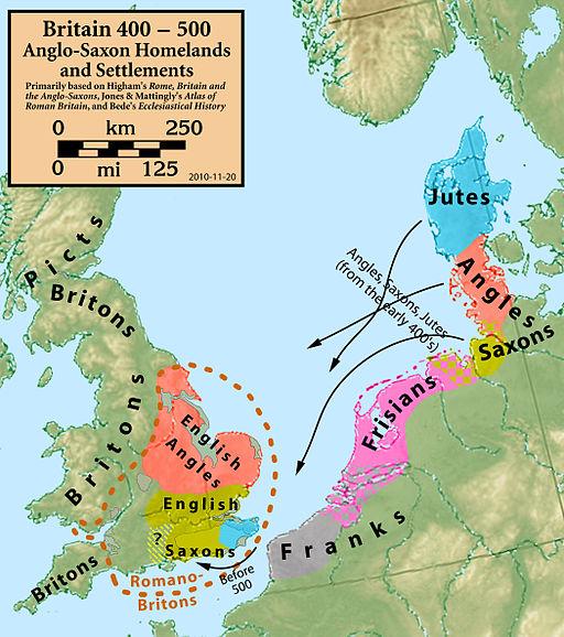 Migraciones y asentamientos hacia el año 400/500 d.C.