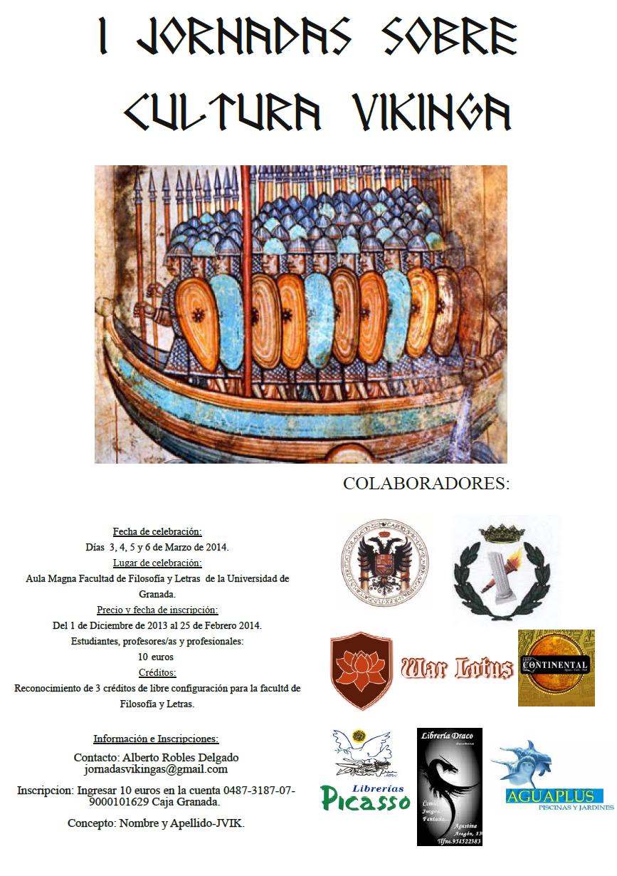 Cartel Jornadas Cultura Vikinga Univ. Granada.