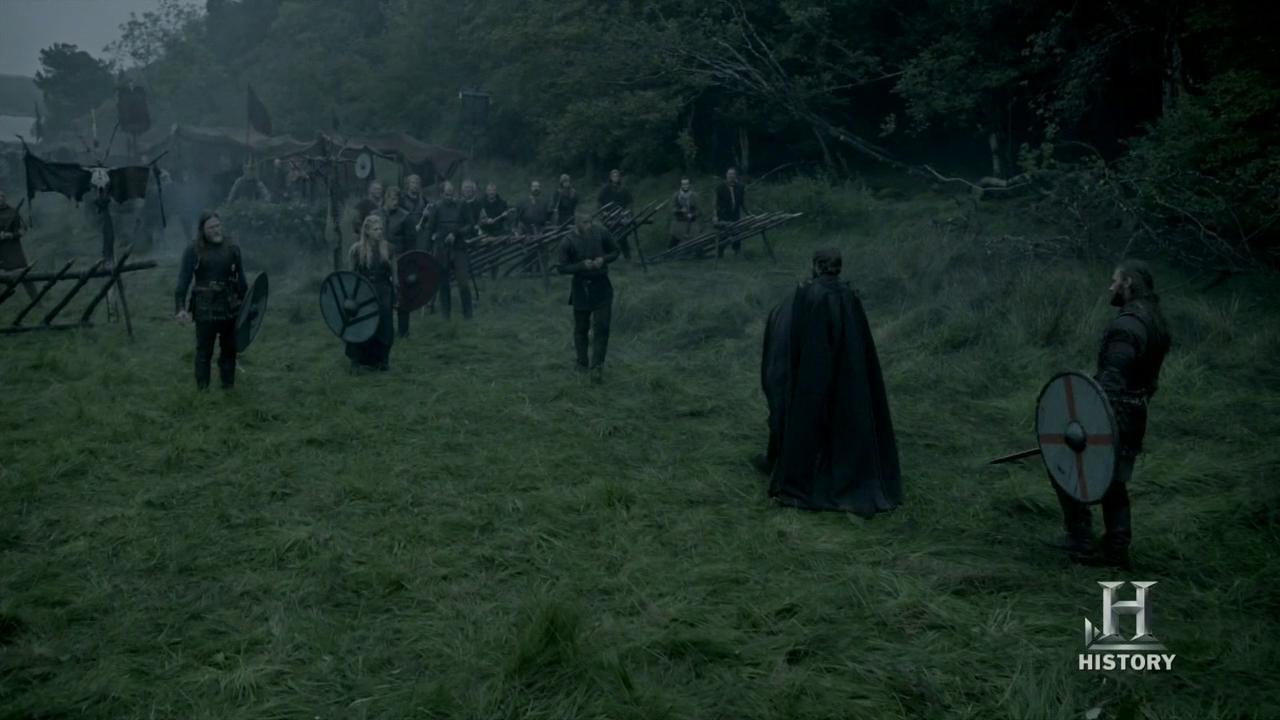 Encuentro entre Ethehwulfo, Ragnar, Horik y Lagertha.