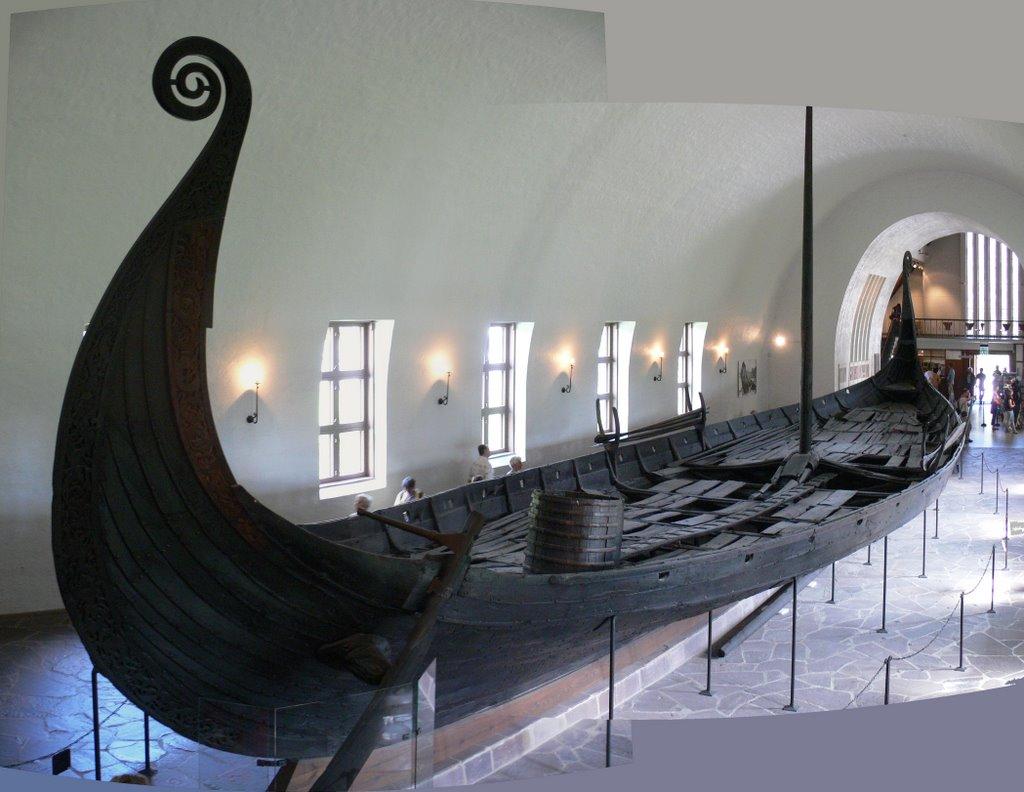 Barco funerario de Oseberg. Créditos fotográficos www.medievalists.net