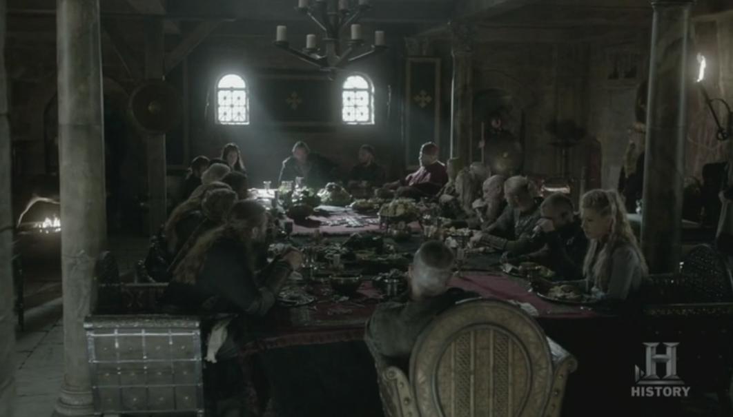 Banquete en la corte del Rey Egberto.