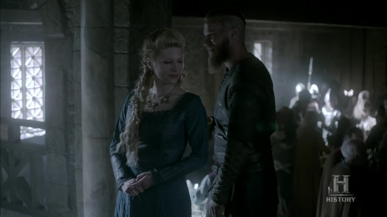 Reencuentro Ragnar y Lagertha.