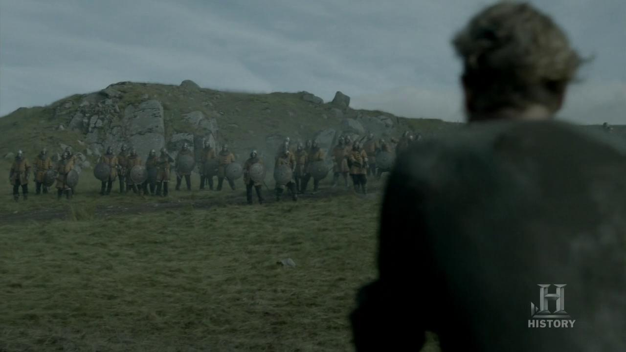 Torstein ante el ejército de Mercia.