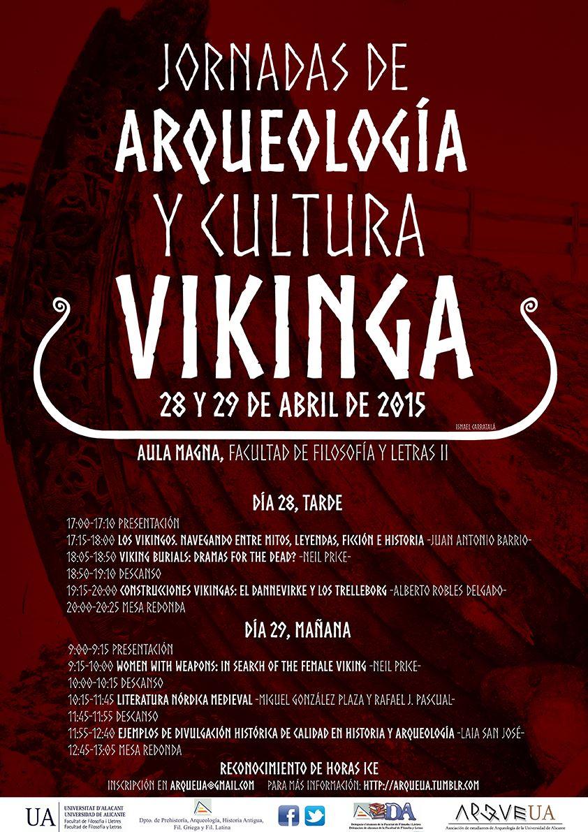 Cartel Jornadas de Arqueología y Cultura Vikinga Universidad Alicante.