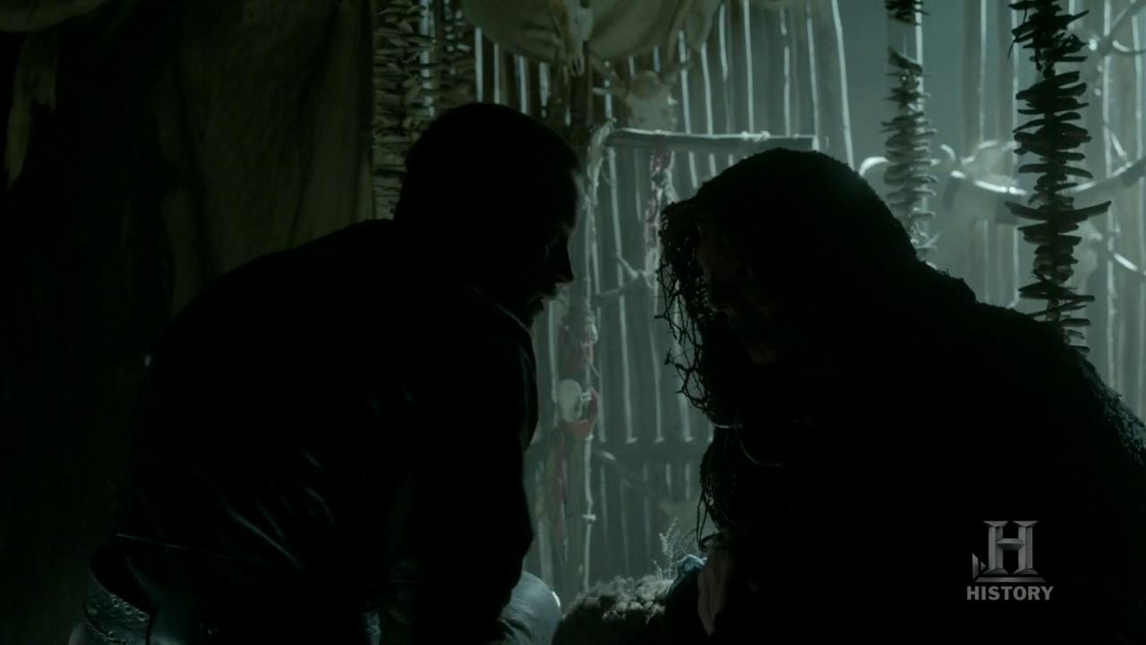 Ragnar con el Oráculo.