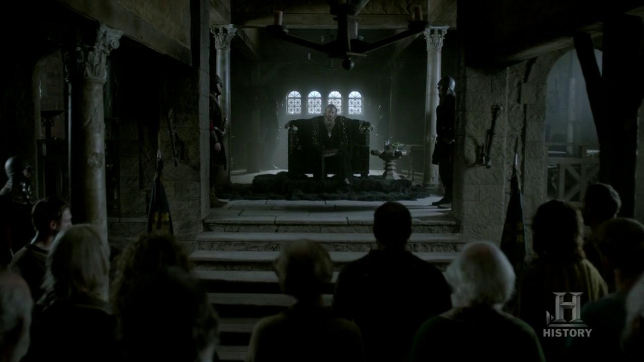 Egberto abronca y hace apresar a los nobles que han arrasado el campamento vikingo.