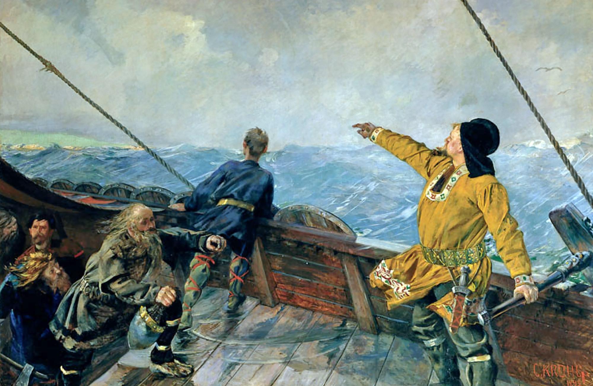 Leiv Eiriksson Discovers America by Christian Krohg (1893)