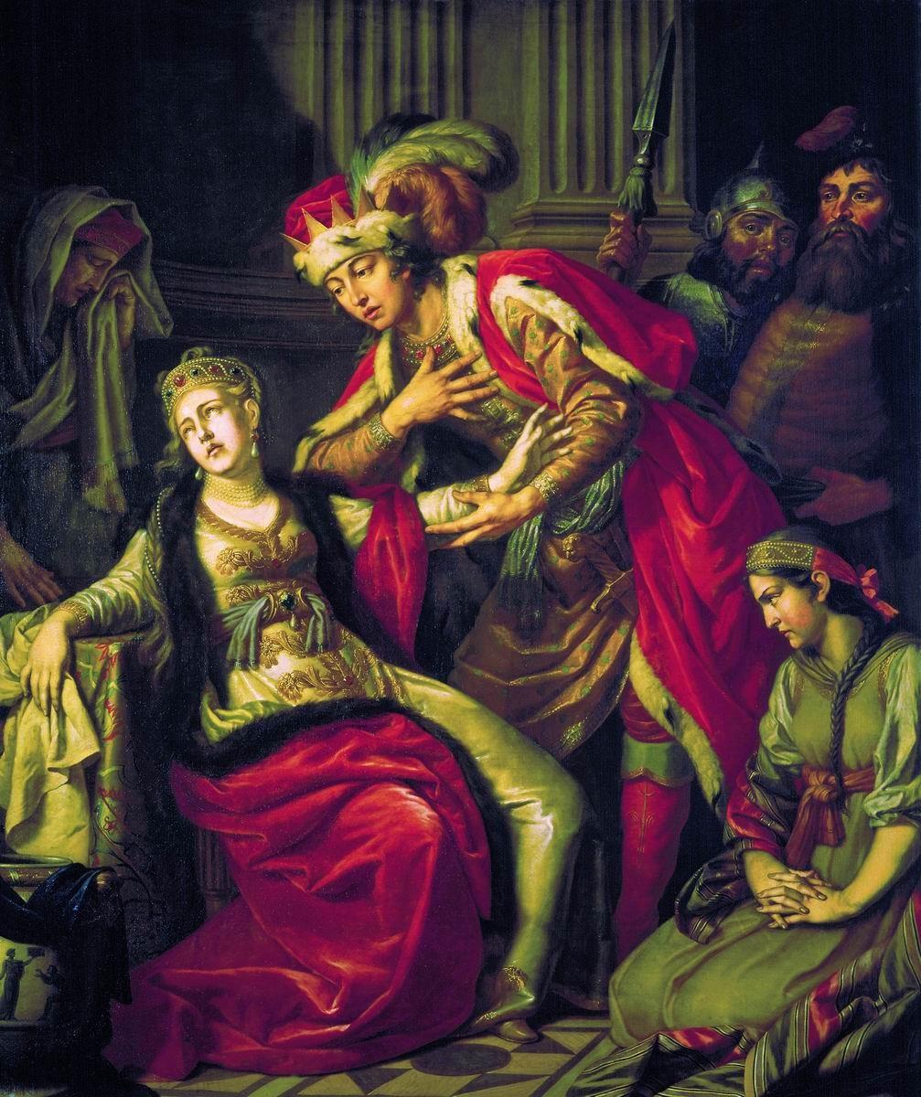 Vladimiro y Rogneda por Antón Losenko. 1770.