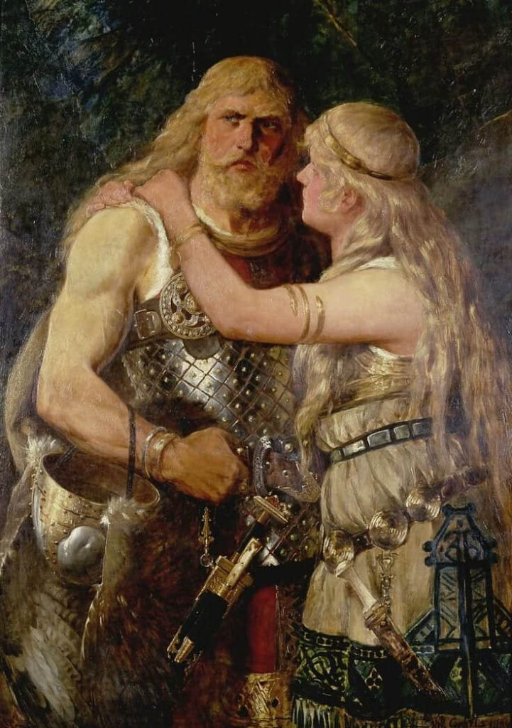 pareja vikinga